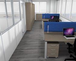 Rendering realizzazione ufficio