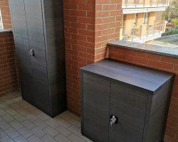 Armadi 80x50x174H e 80x50x86H grigio legno