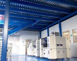 Soppalco portata 500 kg/mq realizzato su laboratorio esistente