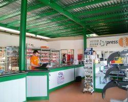 Soppalco per magazzino su area vendita